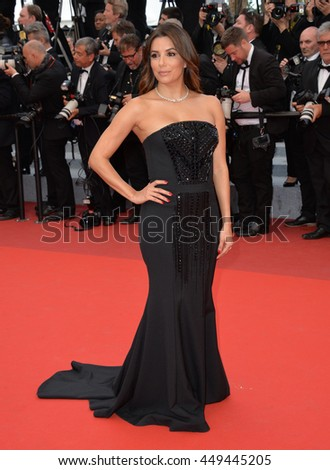 "CANNES, FR - MAY 12, 2016: Actress Eva Longoria at the gala premiere for ""Money Monster"" at the 69th Festival de Cannes."