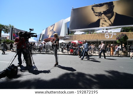CANNES, FRANCE - MAY 214: A general view of atmosphere on during the 67th Annual Cannes Film Festival on May 14, 2014 in Cannes, France. - stock photo