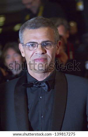 CANNES, FRANCE - MAY 23: Abdellatif Kechiche  attends the 'La Vie D'Adele' premiere during The 66th  Cannes Film Festival at the Palais des Festival on May 23, 2013 in Cannes, France. - stock photo