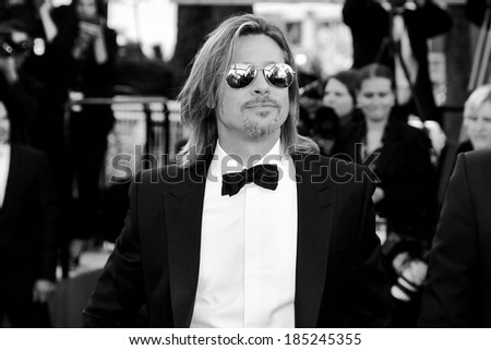 CANNES, FRANCE - MAY 22: Actor Brad Pitt attends the 'Killing Them Softly' Premiere during 65th Cannes Film Festival on May 22, 2012 in Cannes, France.  - stock photo