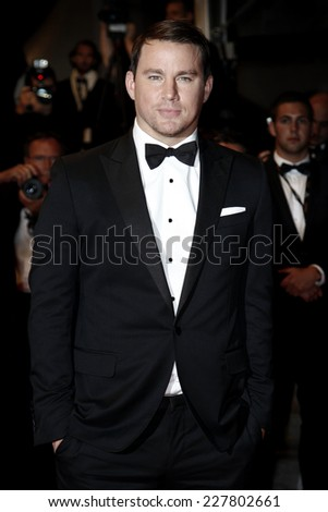 CANNES, FRANCE - MAY 19: Actor Channing Tatum attends the 'Foxcatcher' Premiere at the 67th Cannes Film Festival on May 19, 2014 in Cannes, France. - stock photo