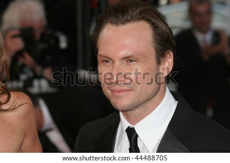 CANNES, FRANCE - MAY 18: Actor Christian Slater attends the Indiana Jones  premiere at the Palais des Festivals during the 61st Cannes International Film Festival on May 18, 2008 in Cannes, France