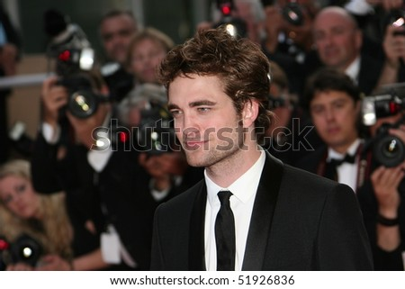 CANNES, FRANCE - MAY 20: Actor Robert Pattinson attends the 'Inglourious Basterds' Premiere at the Grand Theatre Lumiere during the 62nd Annual Cannes Film Festival on May 20, 2009 in Cannes, France - stock photo