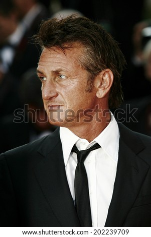 CANNES, FRANCE - MAY 20: Actor Sean Penn attends the 'This Must Be The Place' premiere during the 64th Annual Cannes Film Festival at Palais des Festivals on May 20, 2011 in Cannes, France - stock photo