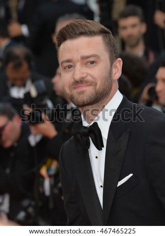 "CANNES, FRANCE - MAY 11, 2016: Actor/singer Justin Timberlake at the gala premiere of Woody Allen's ""Cafe Society"" at the 69th Festival de Cannes."