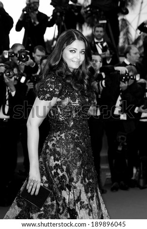 CANNES, FRANCE - MAY 19: Actress Aishwarya Rai attends the Premiere of 'Inside Llewyn Davis' at The 66th Cannes Film Festival on May 19, 2013 in Cannes, France. - stock photo