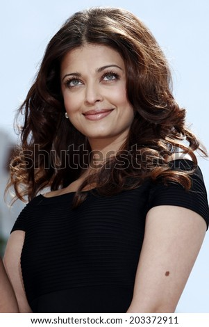 CANNES, FRANCE - MAY 17: Actress Aishwarya Rai  attends the 'Raavan' photo-call during the 63rd Annual Cannes Film Festival on May 17, 2010 in Cannes, France - stock photo