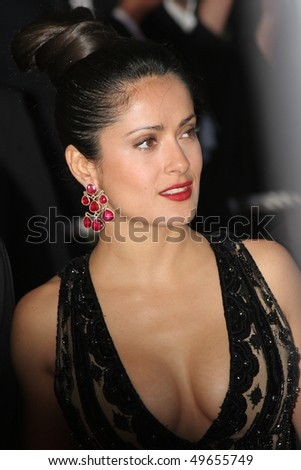 CANNES, FRANCE - MAY 21: Actress and juror Salma Hayek attends the Closing Ceremony and premiere of 'Chromophobia' at the Palais during the 58th  Cannes Film Festival May 21, 2005 in Cannes, France - stock photo
