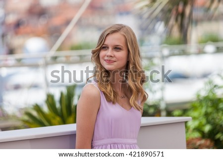Cannes, France - 15 MAY 2016 - Actress Angourie Rice attends 'The Nice Guys' photocall during the 69th annual Cannes Film Festival - stock photo