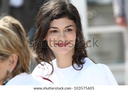 CANNES, FRANCE - MAY 27: Actress Audrey Tautou poses at the 'Therese Desqueyroux' Photocall during the 65th Annual Cannes Film Festival on May 27, 2012 in Cannes, France. - stock photo