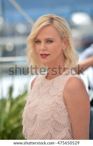 "CANNES, FRANCE - MAY 20, 2016: Actress Charlize Theron at the photocall for ""The Last Face"" at the 69th Festival de Cannes."