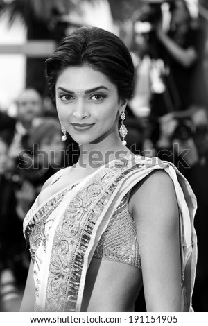 CANNES, FRANCE - MAY 13: Actress Deepika Padukone attends the premiere of 'On Tour' during the 63rd Cannes Film Festival on May 13, 2010 in Cannes, France. - stock photo