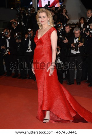 "CANNES, FRANCE - MAY 15, 2016: Actress Geena Davis at the gala premiere for ""The Nice Guys"" at the 69th Festival de Cannes."