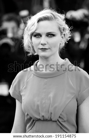 CANNES, FRANCE - MAY 23: Actress Kirsten Dunst attends the Palme d'Or Closing Ceremony during the 63rd Cannes Film Festival on May 23, 2010 in Cannes, France. - stock photo