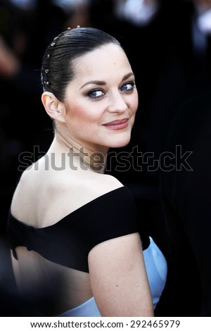 CANNES, FRANCE- MAY 22: Actress Marion Cotillard attends the 'Little Prince'  Premiere during the 68th Cannes Film Festival on May 22, 2015 in Cannes, France. - stock photo
