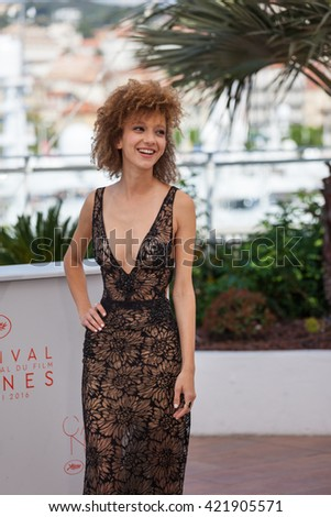 Cannes, France - 15 MAY 2016 - Actress Mili Eshet attends �ºBeyond The Mountains And Hills�º Photocall during The 69th Annual Cannes Film Festival at the Palais des Festivals - stock photo