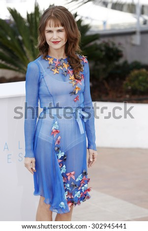 CANNES, FRANCE- MAY 22: Actress Nailea Norvind attends the 'Chronic' Photo-call during the 68th Cannes Film Festival on May 22, 2015 in Cannes, France. - stock photo