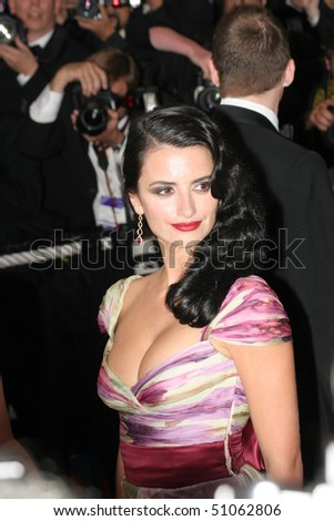 CANNES, FRANCE - MAY 21: Actress Penelope Cruz attends the Closing Ceremony and premiere of 'Chromophobia' at the Palais during the 58th International Film Festival May 21, 2005 in Cannes, France - stock photo