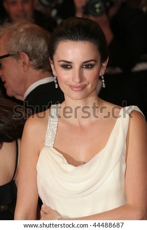 CANNES, FRANCE - MAY 17: Actress Penelope Cruz attends the Vicky Cristina Barcelona premiere at the Palais des Festivals during the 61st Cannes  Film Festival on May 17, 2008 in Cannes, France - stock photo