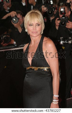 CANNES, FRANCE - MAY 21: Actress Sharon Stone attends the 'I Am Because We Are' premiere at the Palais des Festivals during the 61st International Film Festival on May 21, 2008 in Cannes, France