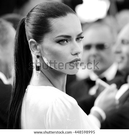CANNES, FRANCE - MAY 17: Adriana Lima attends the premiere of 'Julieta' during the 69th Cannes Film Festival on May 17, 2016 in Cannes, France.