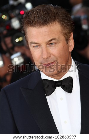CANNES, FRANCE - MAY 16: Alec Baldwin attends the Opening Ceremony and 'Moonrise Kingdom' premiere during the 65th  Cannes  Festival at Palais des Festivals on May 16, 2012 in Cannes, France.
