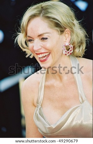 CANNES, France - MAY 26: American actress  Sharon Stone attends Palmares Awards Ceremony the 55th International Film Festival on May 26, 2002 in Cannes, France - stock photo