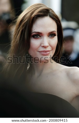 CANNES, FRANCE - MAY 16: Angelina Jolie attends 'The Tree Of Life' Premiere during the 64th Cannes Film Festival on May 16, 2011 in Cannes, France.  - stock photo