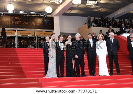 CANNES, FRANCE - MAY 19:  Antonio Banderas, Elena Anaya, Pedro Almodovar attend the 'The Skin I Live In' premiere at the Palais  during the 64th Cannes Festival on May 19, 2011 in Cannes, France