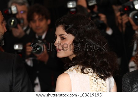 CANNES, FRANCE - MAY 27: Audrey Tautou attends the Closing Ceremony and the 'Therese Desqueyroux' Premiere during the 65th  Cannes Festival at Palais on May 27, 2012 in Cannes, France - stock photo