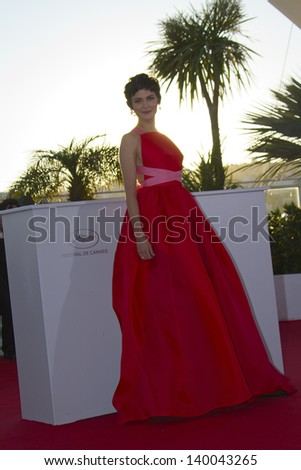 CANNES, FRANCE - MAY 26: Audrey Tautou attends the Palme D'Or Winners Photocall during the 66th  Cannes Film Festival at the Palais des Festivals on May 26, 2013 in Cannes, France. - stock photo