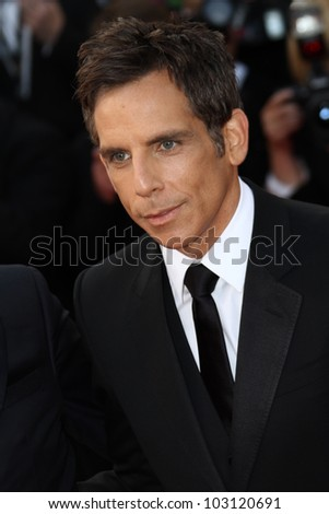 CANNES, FRANCE - MAY 18: Ben Stiller attends the 'Madagascar 3: Europe's Most Wanted' Premiere during the 65th Cannes Festival at Palais  on May 18, 2012 in Cannes, France.