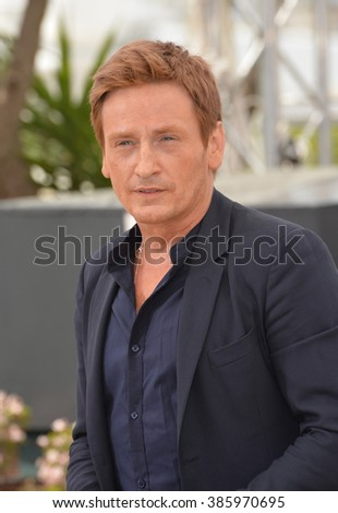 CANNES, FRANCE - MAY 13, 2015: Benoit Magimel at photocall for his movie Standing Tall at the 68th Festival de Cannes.