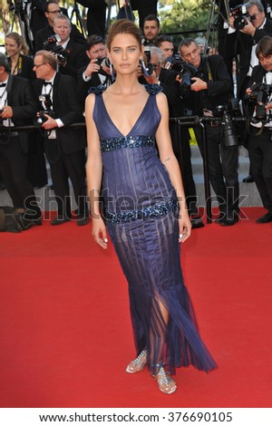 "CANNES, FRANCE - MAY 23, 2014: Bianca Balti at gala premiere of ""Clouds of Sils Maria"" at the 67th Festival de Cannes."