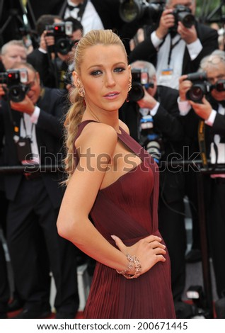 "CANNES, FRANCE - MAY 14, 2014: Blake Lively at the gala premiere of ""Grace of Monaco"" at the 67th Festival de Cannes.  - stock photo"
