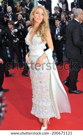 "CANNES, FRANCE - MAY 15, 2014: Blake Lively at the premiere of ""Mr. Turner"" at the 67th Festival de Cannes.  - stock photo"