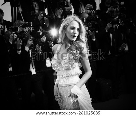 CANNES, FRANCE - MAY 15: Blake Lively attends the 'Mr.Turner' Premiere at the 67th Annual Cannes Film Festival on May 15, 2014 in Cannes, France. - stock photo