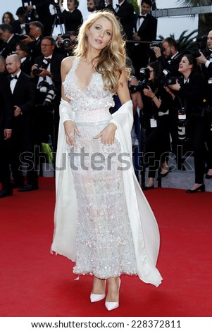 CANNES, FRANCE - MAY 15: Blake Lively attends the 'Mr.Turner' Premiere during the 67th Cannes Film Festival on May 15, 2014 in Cannes, France - stock photo
