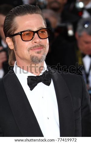 CANNES, FRANCE - MAY 16: Brad Pitt attends 'The Tree Of Life' premiere during the 64th Annual Cannes Film Festival at Palais des Festivals on May 16, 2011 in Cannes, France.