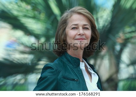CANNES, FRANCE - MAY 16: British actress Charlotte Rampling during the photocall of 'The Look' presented in the Cannes Classics selection at the 64th Cannes Film Festival on May 16, 2011 in Cannes. - stock photo