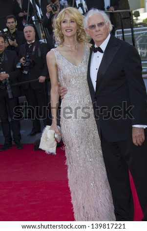 CANNES, FRANCE - MAY 23: Bruce Dern; Laura Dern attend the 'Nebraska' premiere during The 66th Cannes Film Festival at the Palais des Festival on May 23, 2013 in Cannes, France. - stock photo