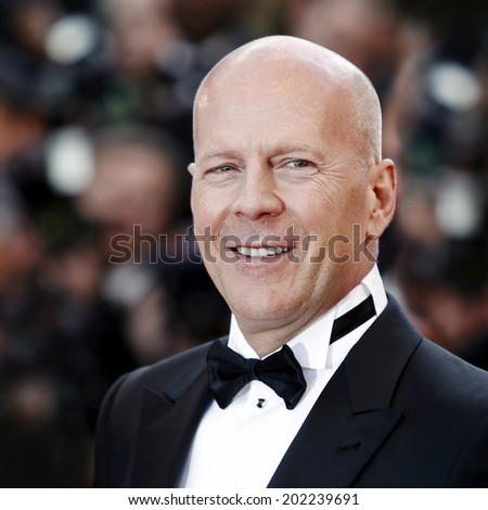 CANNES, FRANCE - MAY 16: Bruce Willis attends the 'Moonrise Kingdom' premiere during the 65th Cannes Film Festival on May 16, 2012 in Cannes, France. - stock photo