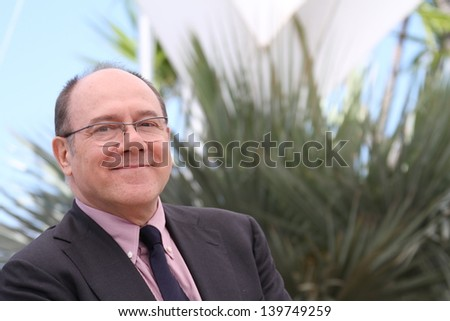 CANNES, FRANCE - MAY 21: Carlo Verdone attends the photocall for 'La Grande Bellezza' (The Great Beauty) during the 66th  Cannes Festival at Palais des Festivals on May 21, 2013 in Cannes, France. - stock photo
