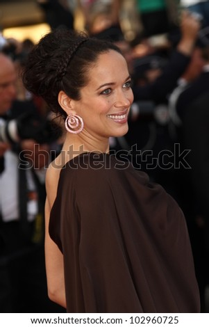 CANNES, FRANCE - MAY 17: Carmen Chaplin attends the 'De Rouille et D'os' Premiere during the 65th  Cannes Film Festival at Palais des Festivals on May 17, 2012 in Cannes, France. - stock photo