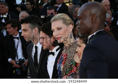 CANNES, FRANCE - MAY 16: Cate Blanchett attends the 'How To Train Your Dragon 2' premiere during the 67th Annual Cannes Film Festival on May 16, 2014 in Cannes, France. - stock photo