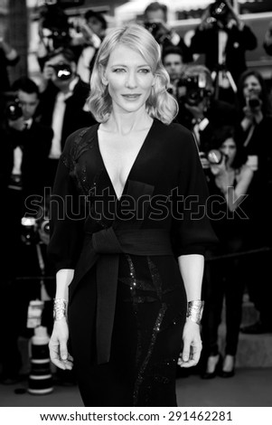 CANNES, FRANCE- MAY 19: Cate Blanchett attends the 'Sicario' Premiere during the 68th Cannes Film Festival on May 19, 2015 in Cannes, France. - stock photo