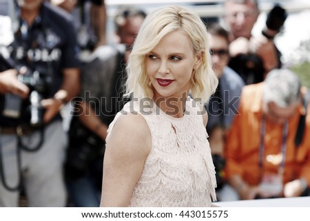 CANNES, FRANCE - MAY 20: Charlize Theron attends 'The Last Face' photo-call during the 69th Cannes Film Festival on May 20, 2016 in Cannes, France.  - stock photo