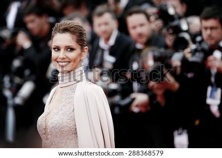 CANNES, FRANCE- MAY 15: Cheryl Fernandez Versini attends the premiere of 'Irrational Man' during the 68th Cannes Film Festival on May 15, 2015 in Cannes, France. - stock photo
