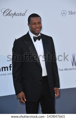 CANNES, FRANCE - MAY 23, 2013: Chris Tucker at amfAR's 20th Cinema Against AIDS Gala at the Hotel du Cap d'Antibes, France  - stock photo