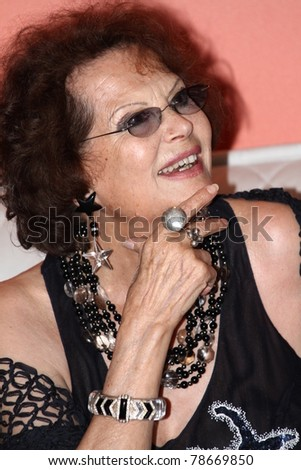 CANNES, FRANCE - MAY 18: Claudia Cardinale arrives Italian pavilion during the 64th International Cannes Film Festival May 18, 2011 in Cannes, France